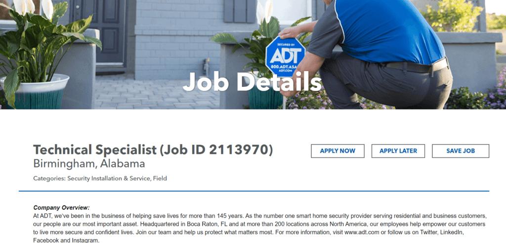 ADT Job Application