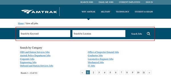 Amtrak Online Application