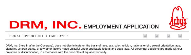 Arb's Job Application