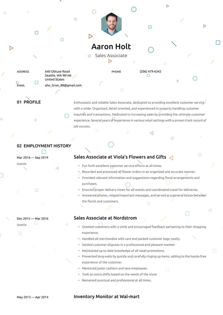 Belk Sales Associate Resume Template