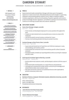 Buffalo Wild Wings Manager Resume Template