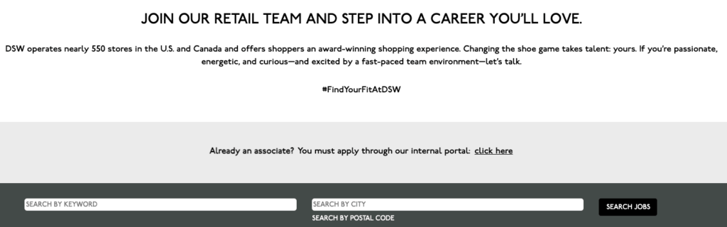 DSW Careers Page