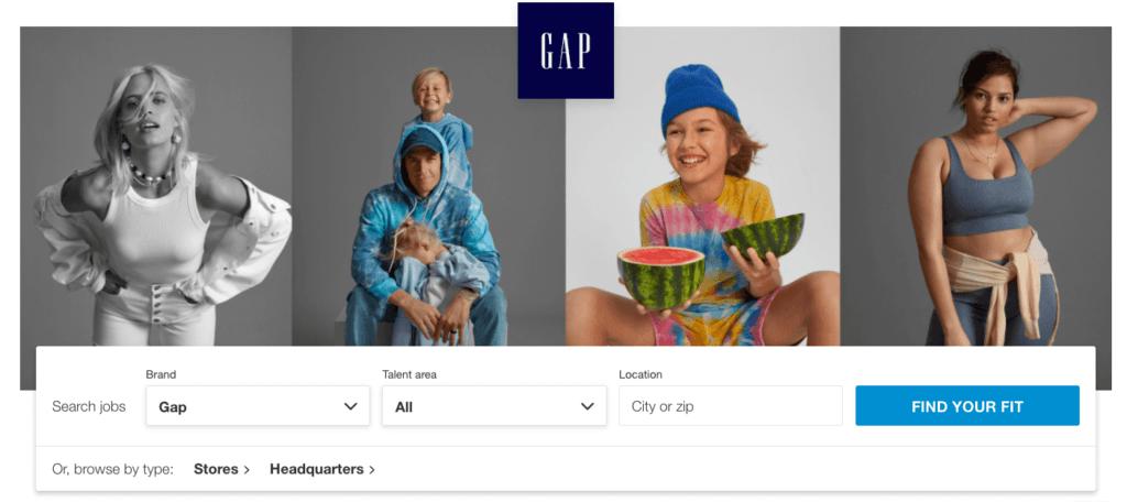 Gap career search