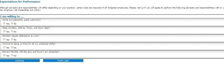 Walgreens online application